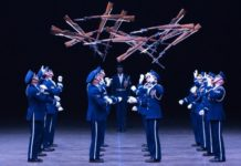 The USAF Honor Guard Drill Team at the 2019 Royal Nova Scotia Tattoo.