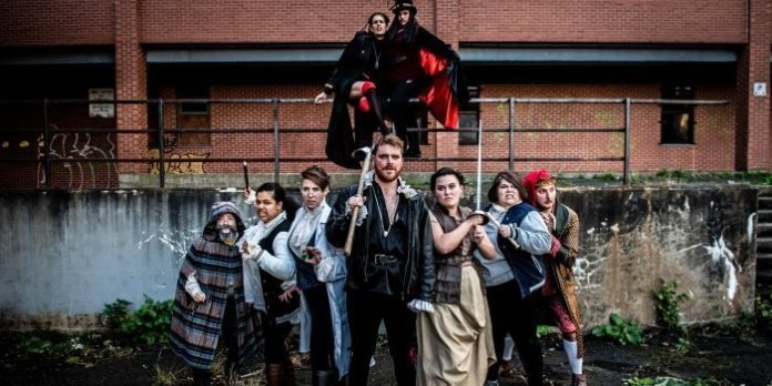 Members of the cast of Zomblet. Photo by Stoo Metz.