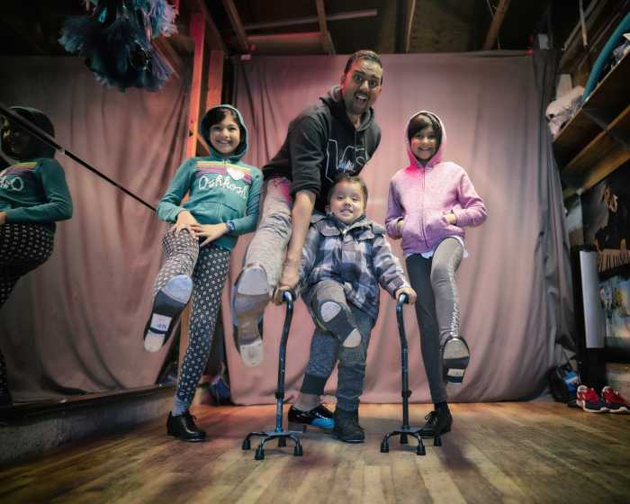Tap dancing is definitely a family affair as Andrew Prashad shares his love for dance with his daughters Nyasha & Sophia and son Ezra.