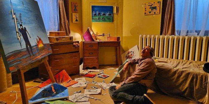 Glen Gould in a scene from the Nova Scotia-shot film 8:37 Rebirth. Photo by Stephen Wilsack.